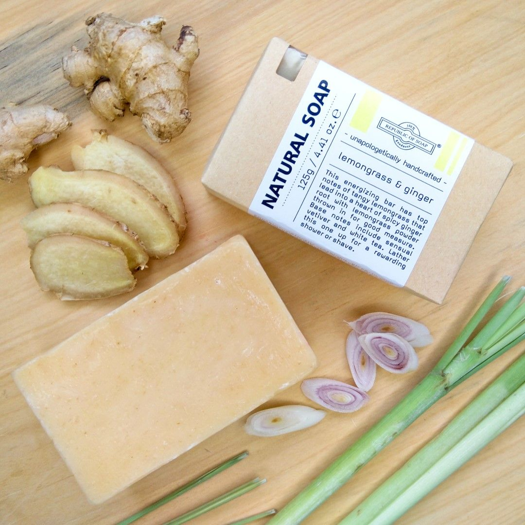 Natural Soap Bar - Lemongrass & Ginger - Republic of Soap