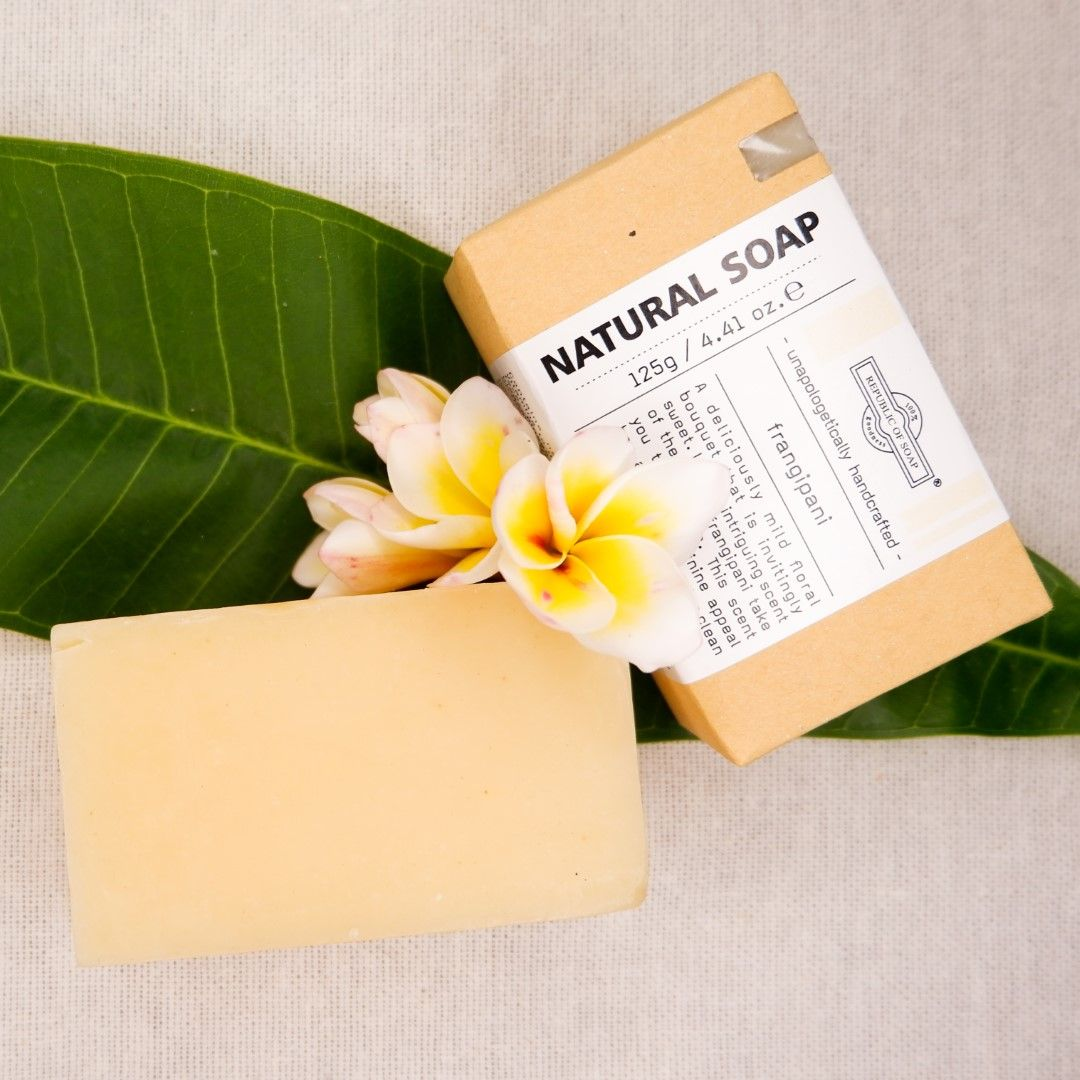 Natural Soap Bar - Frangipani - Republic of Soap