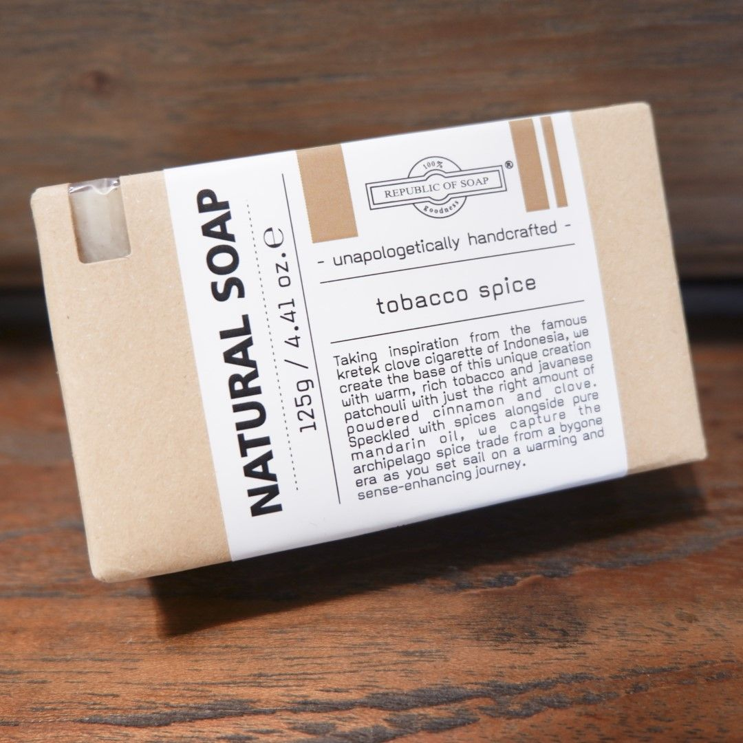 Natural Soap Bar - Tobacco Spice - Republic of Soap