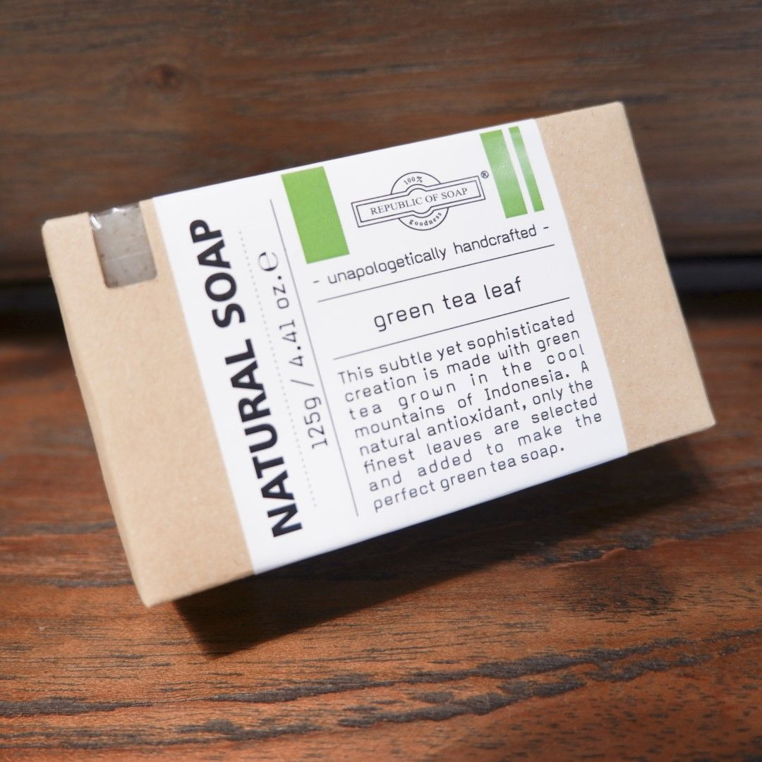 Natural Soap Bar - Green Tea Leaf - Republic of Soap